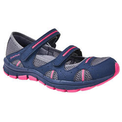 BREATHABLE NATURE HIKING SHOES - NH150 FRESH - BLUE/PINK - WOMEN