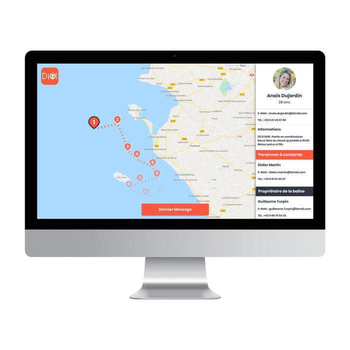 Bracelet d'alerte et de localisation DIAL de la SNSM pour les sports nautiques