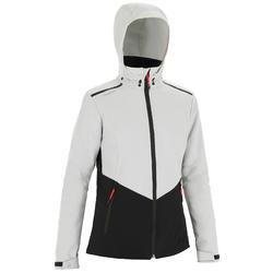 Softshell jas voor wedstrijdzeilen RACE dames grijs/zwart