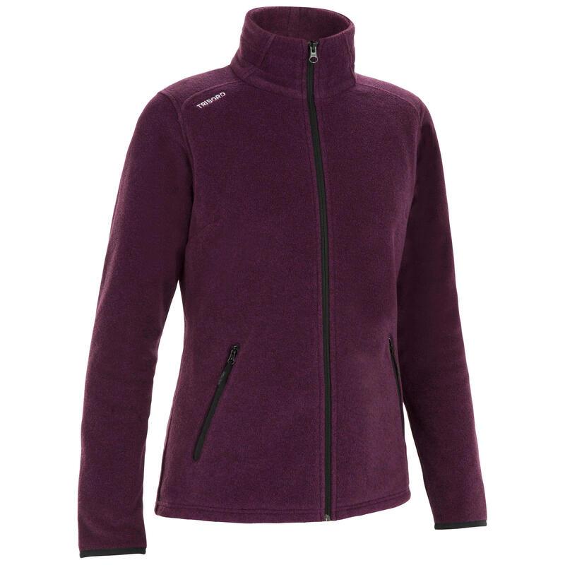 Women's Sailing Warm Fleece 100 - Heather Purple