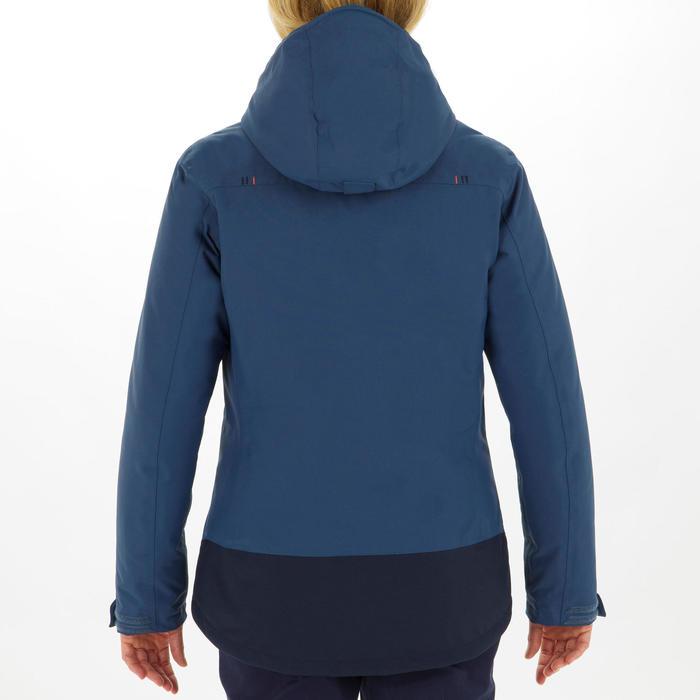 Veste chaude bateau femme 100 bleu gris