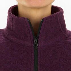 Fleecejacke Segeln Sailing 100 warm Damen violett meliert