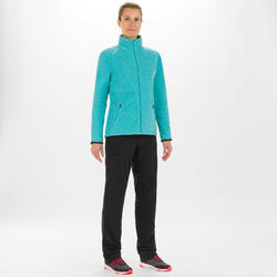 女款航海防潑水刷毛外套RACE 100-淺碧藍色