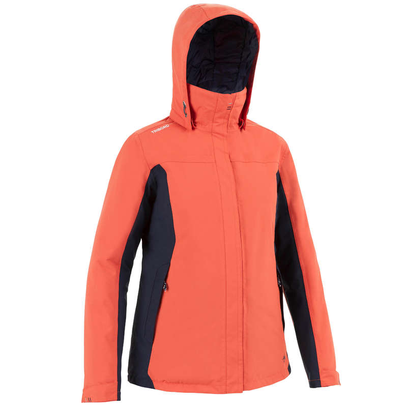 Női téli kabát Vitorlázás, hajózás, dingi - Női kabát hajózáshoz 100-as TRIBORD - Női vitorlás ruházat, cipő