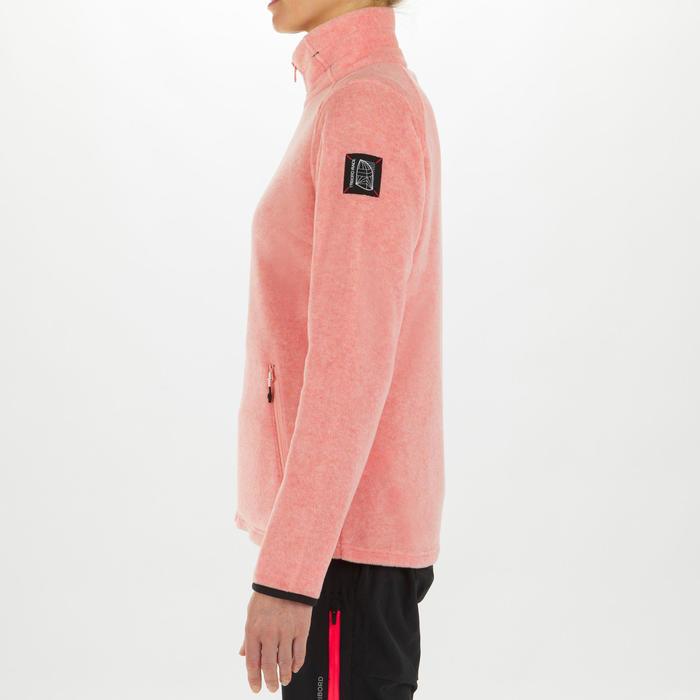 女款航海防潑水刷毛外套RACE 100-蜜桃色