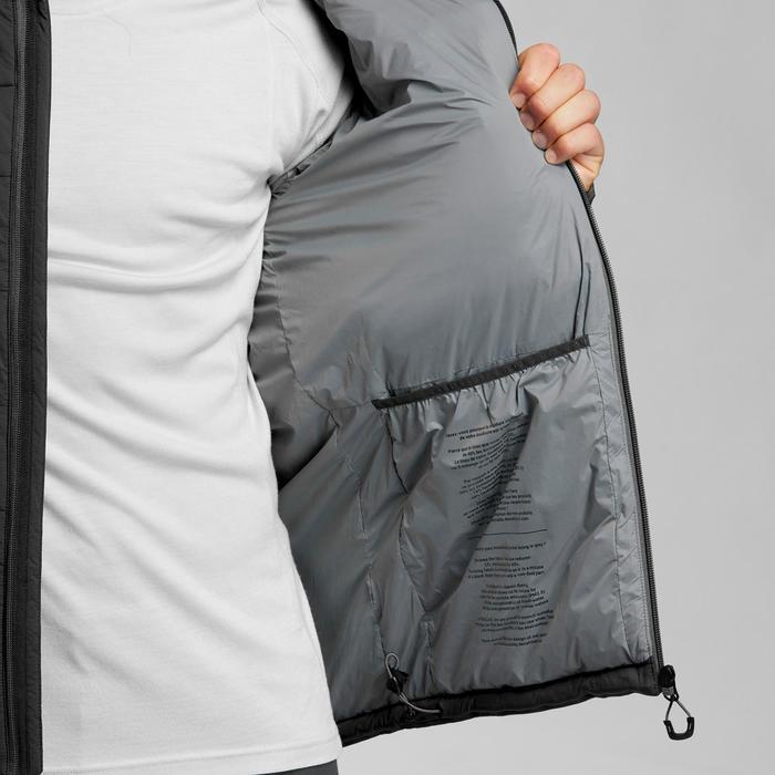 Gewatteerde herenjas voor bergtrekking -10°C Trek 500 zwart