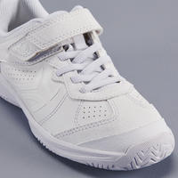 CHAUSSURES ENFANT TENNIS ARTENGO TS160 FULL WHITE