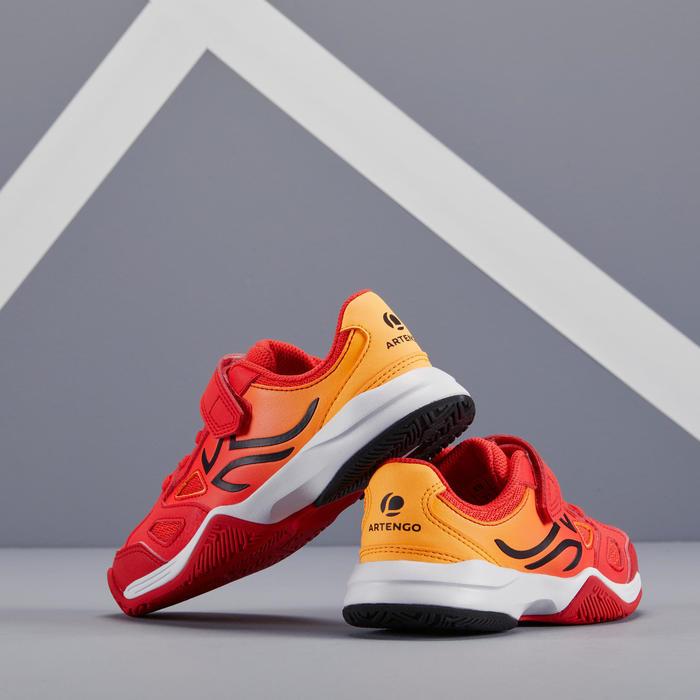 兒童款網球鞋TS560-橘紅配色