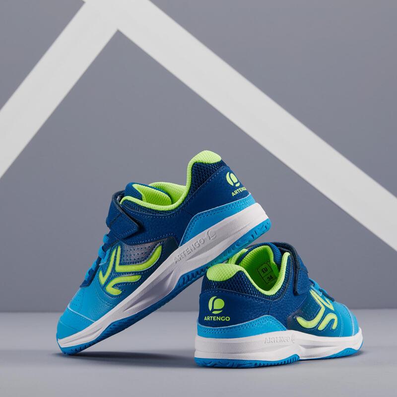 รองเท้าเทนนิสสำหรับเด็กรุ่น TS160 (สีฟ้า Ball)