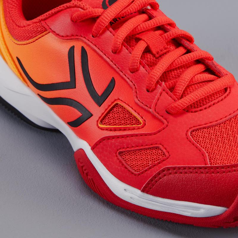 รองเท้าเทนนิสสำหรับเด็กรุ่น TS560 JR (สีส้ม/แดง)