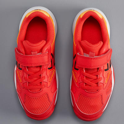 CHAUSSURES ENFANT TENNIS ARTENGO TS560 KD ORANGE RED
