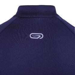 兒童款保暖田徑半拉鍊長袖運動衫AT 100 - 海軍藍