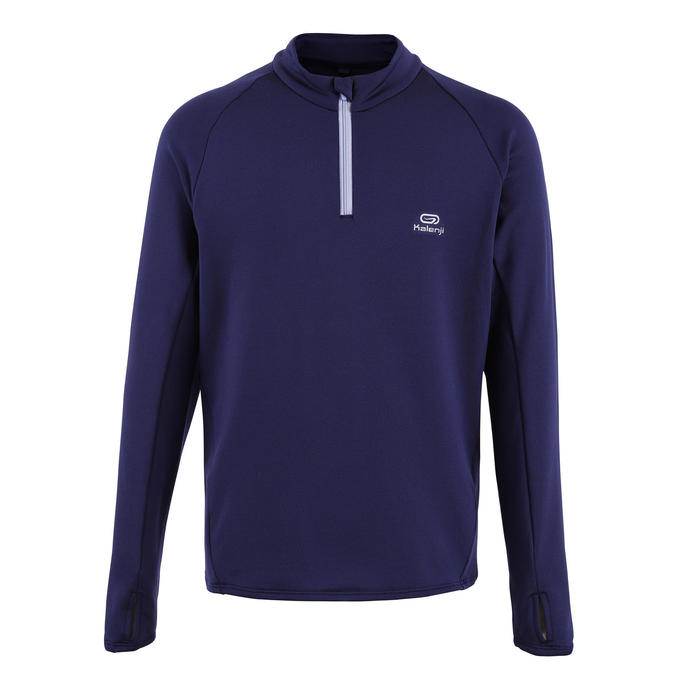 Kids' Athletics Warm ½-Zip LS Jersey AT 100 - navy blue