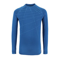 Kids' Athletics Long-Sleeved Jersey AT 500 Skincare - petrol blue