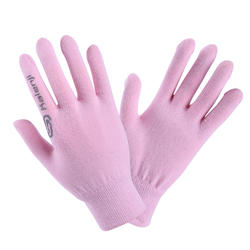 Kids' Athletics Seamless Gloves - light pink and grey
