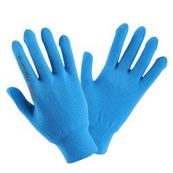 兒童款無縫線田徑手套 - 藍灰色