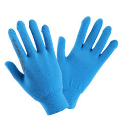 Kids' Athletics Seamless Gloves - blue and grey
