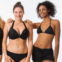 Top bikini Surf Olaian Elena Push Up Negro Mujer