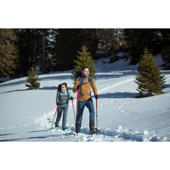 Men's Snow Hiking Warm Water Repellent Trousers with Gaiters SH520 X-Warm