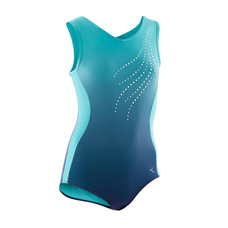 500 Artistic Gymnastics Sleeveless Leotard - Girls