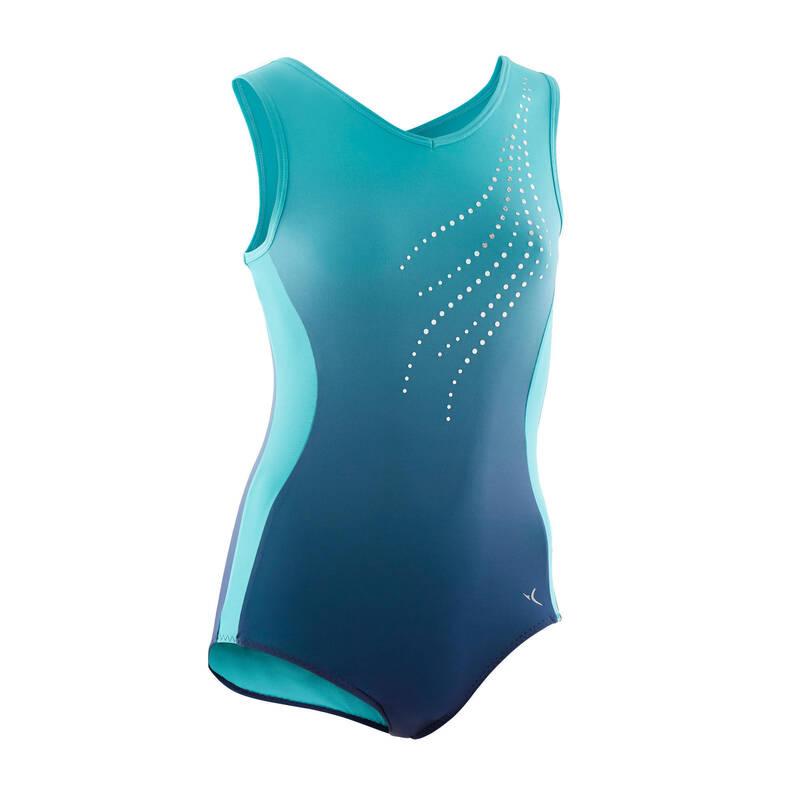 DĚTSKÉ TRIKOTY, OBLEČENÍ NA TANEC Gymnastika - DÍVČÍ GYMNASTICKÝ DRES 500 DOMYOS - Gymnastické oblečení