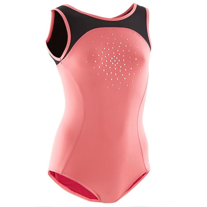 Dívčí gymnastický dres 900 růžový
