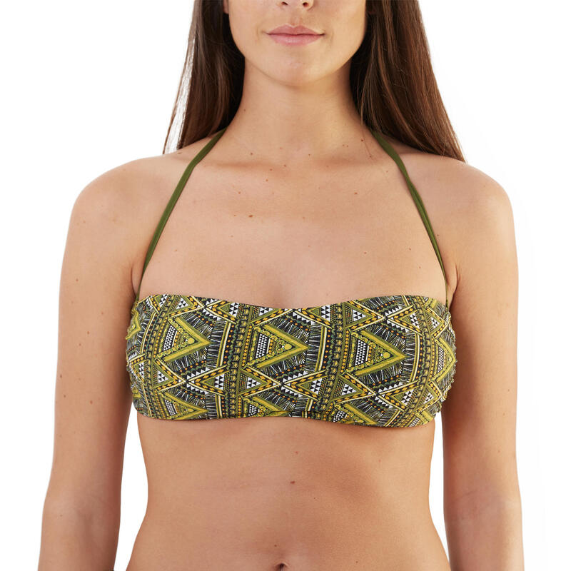 TRIBE bandeau, neck and back ties, detachable cups and neck fastener