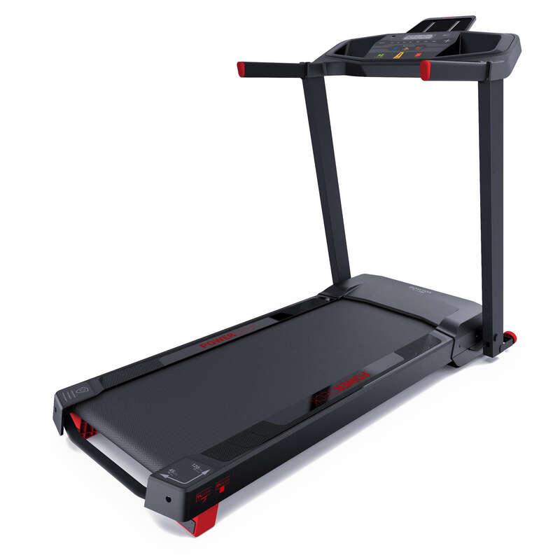 BANDĂ DE ALERGARE SAU DE MERS FITNESS CARDIO Fitness Cardio, Bodybuilding, Crosstraining, Pilates - Bandă de alergat RUN100 DOMYOS - Aparate fitness cardio