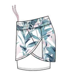 女款有氧健身訓練短褲520 - 印花白色
