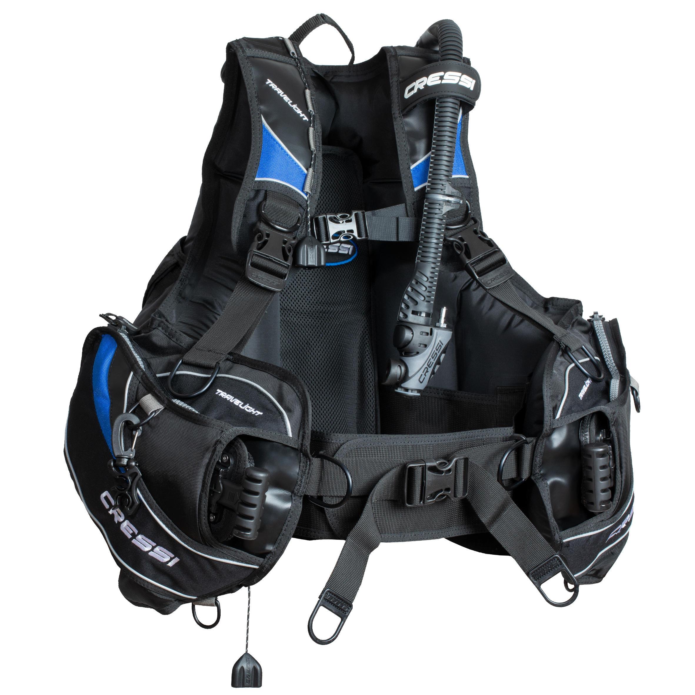 Tarierweste Tarierjacket Travelight BCD schwarz| ideal für Tauchreisen | Sportbekleidung > Sportwesten | Cressi