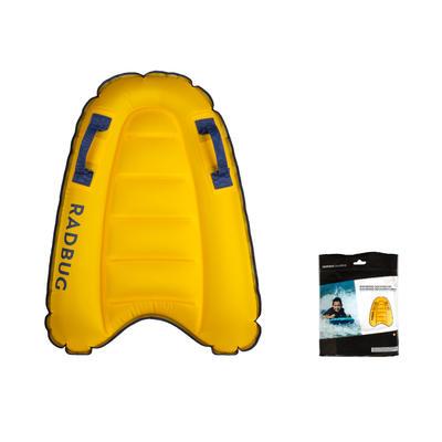 Bodyboard enfant DISCOVERY gonflable jaune 4 ans-8 ans (15-25Kg)