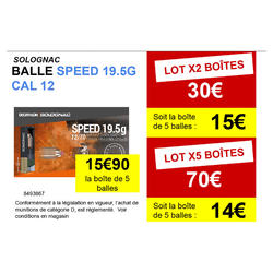 BALLE SANS PLOMB SPEED CALIBRE 12 X 5