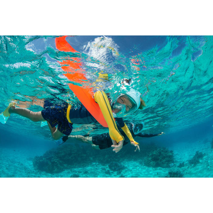 Bouée de flottaison de snorkeling 100 orange fluo