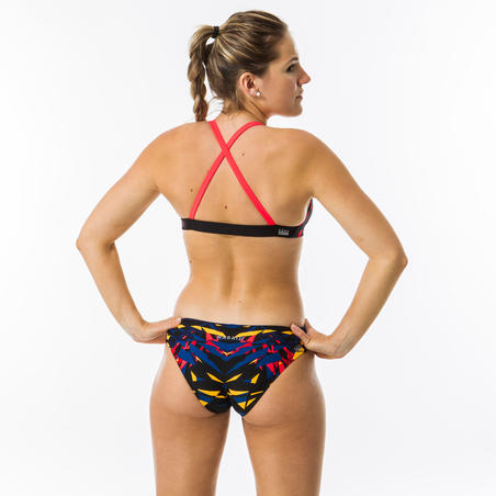Women's Swimming Ultra Chlorine Resistant Crop Top Jana - Kal Red and Blue