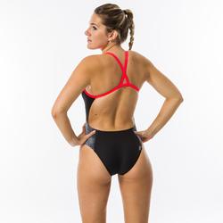 Sportbadpak voor zwemmen dames Lexa XP zwart/wit
