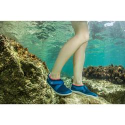 Calçado Aquático Aquashoes Adulto SNK 500 Azul rosa