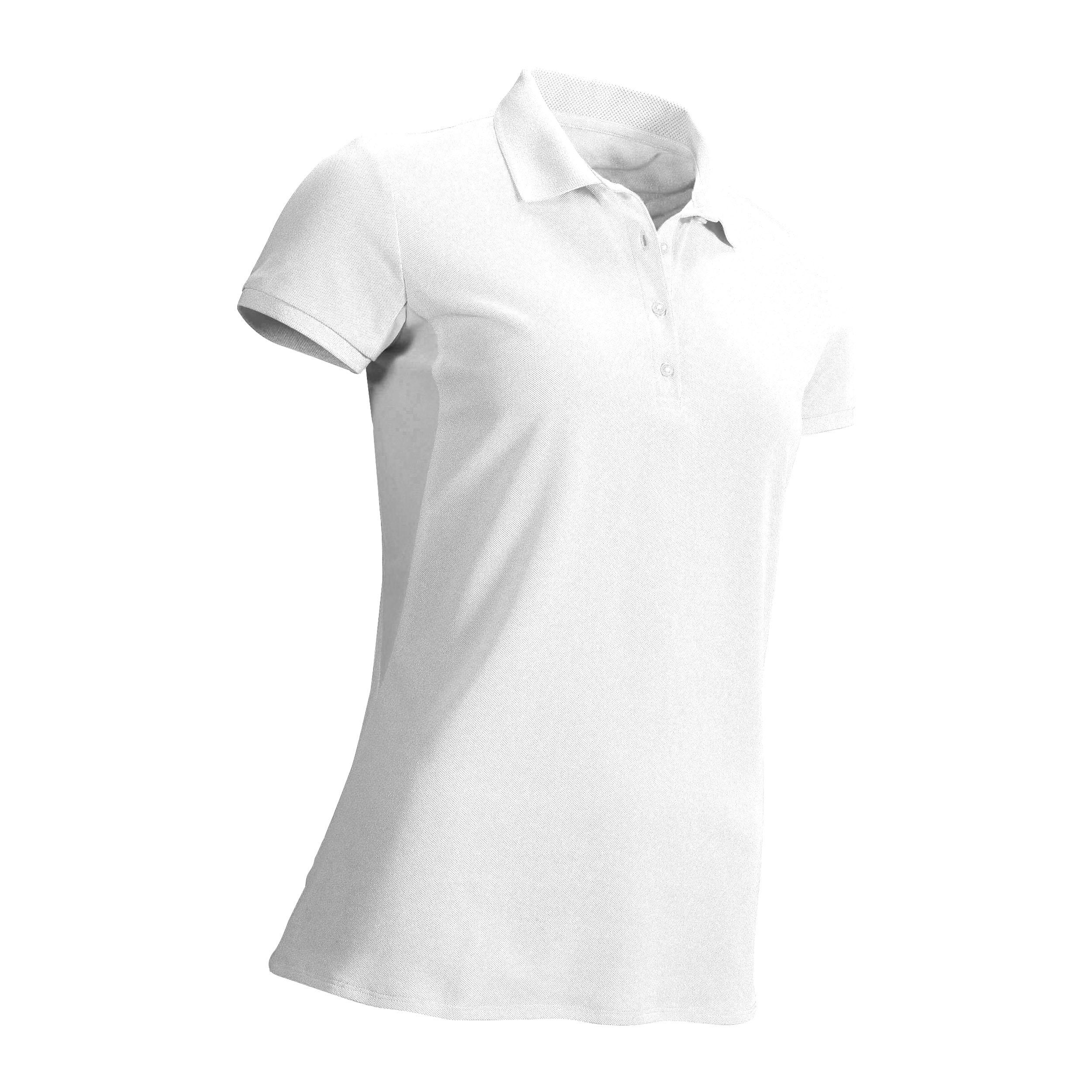 Tricou Polo Golf Alb Damă imagine