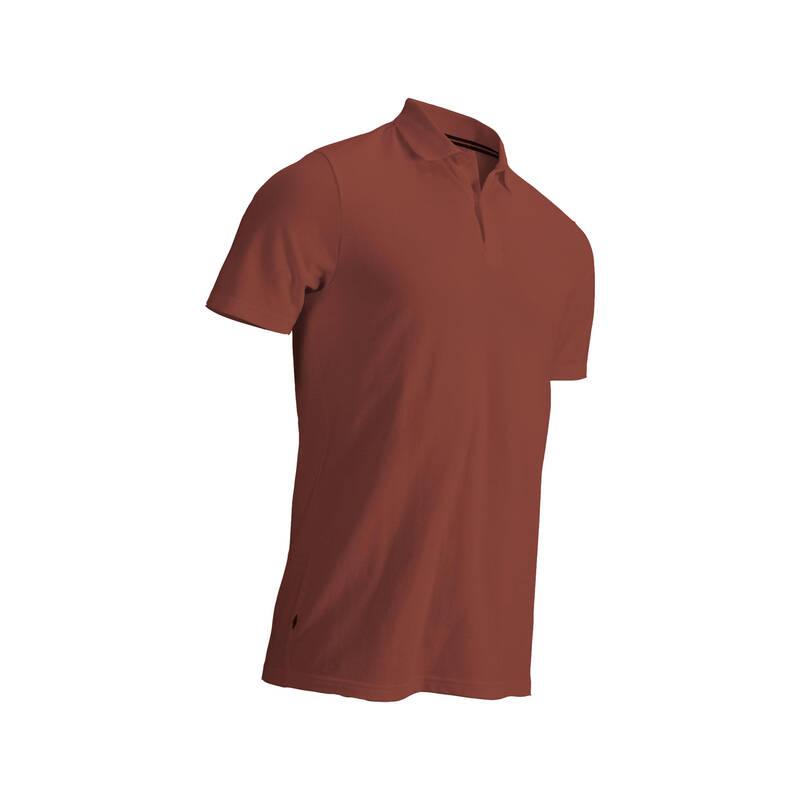 PÁNSKÉ GOLFOVÉ OBLEČENÍ DO CHLADNĚJŠÍHO POČASÍ Golf - PÁNSKÉ POLO CIHLOVÉ INESIS - Golfové oblečení