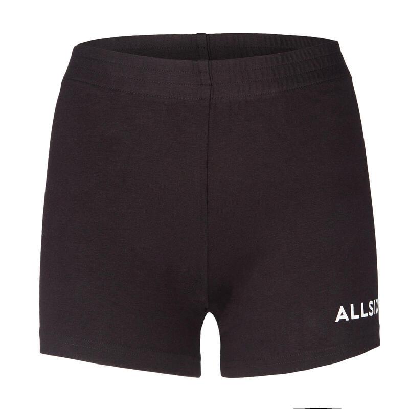 V100 Girls' Volleyball Shorts - Black