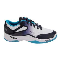 Calçado de Voleibol Mulher V500 Branco, azul e Turquesa
