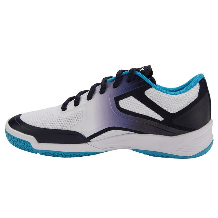 Volleybalschoenen dames V500 wit/blauw/turquoise
