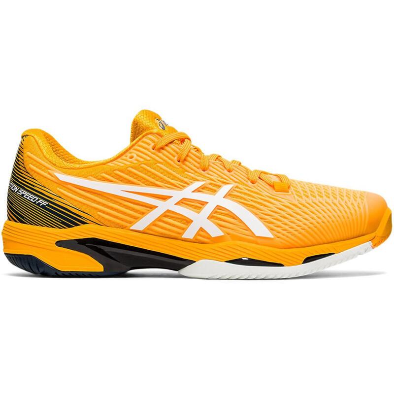 Tennisschoenen voor heren Gel Solution Speed 2 FF geel gravel