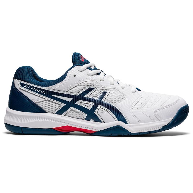 Erkek Tenis Ayakkabısı - Beyaz / Mavi - Gel Dedicate