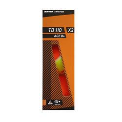 Tennis Balls TB110 x 3 - Orange