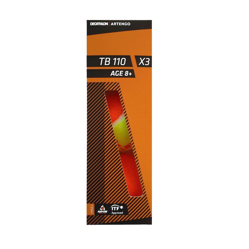 BALLE DE TENNIS TB110*3 ORANGE