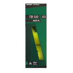 3入組網球TB120 - 綠色