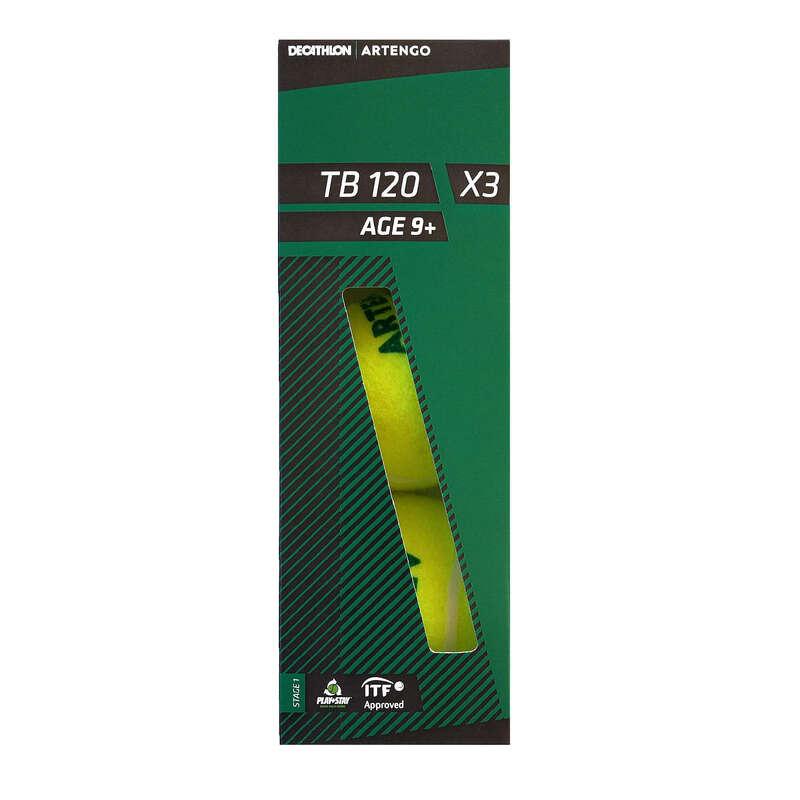TENISZLABDÁK Tenisz - Teniszlabda TB120 3 db ARTENGO - Tenisz felszerelés