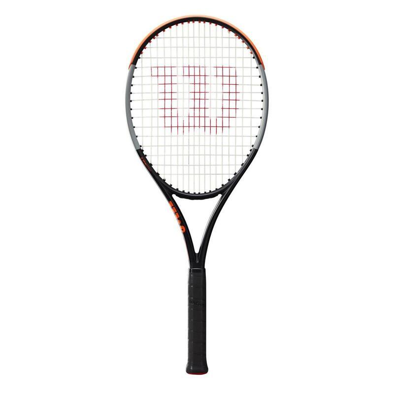 Raquette de tennis adulte Burn 100LS V4.0 Noire Grise Orange non cordée