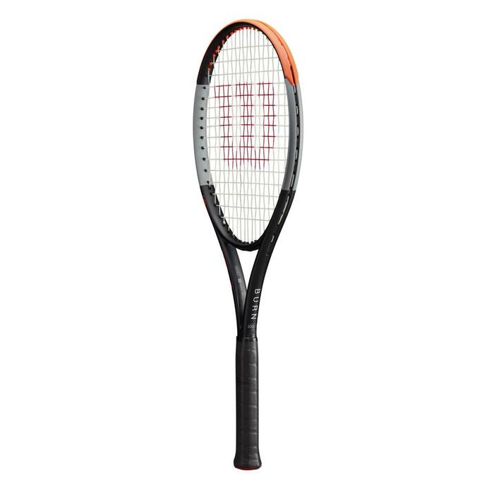 Raquette de tennis adulte Burn 100LS V4.0 noir orange