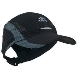 RUNNING CAP BLACK ADJUSTABLE 55-63 cm